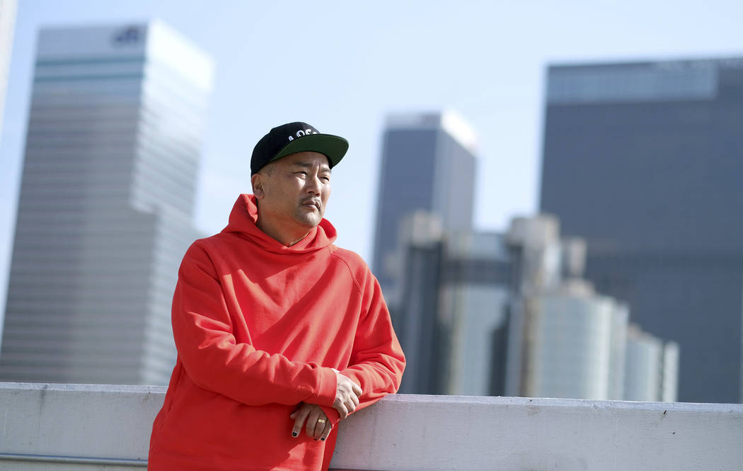 """Chef Roy Choi, host of the new television series """"Breaking Bread,"""" poses for a portra ..."""
