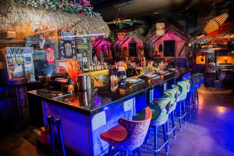 The beach-inspired bar at The Golden Tiki on Wednesday, Aug 16, 2017, in Las Vegas. (Benjamin H ...