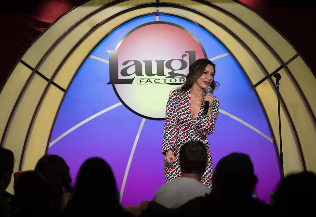 Shayma Tash performs the headlining set at The Laugh Factory Comedy Club on Saturday, Feb. 2020 ...