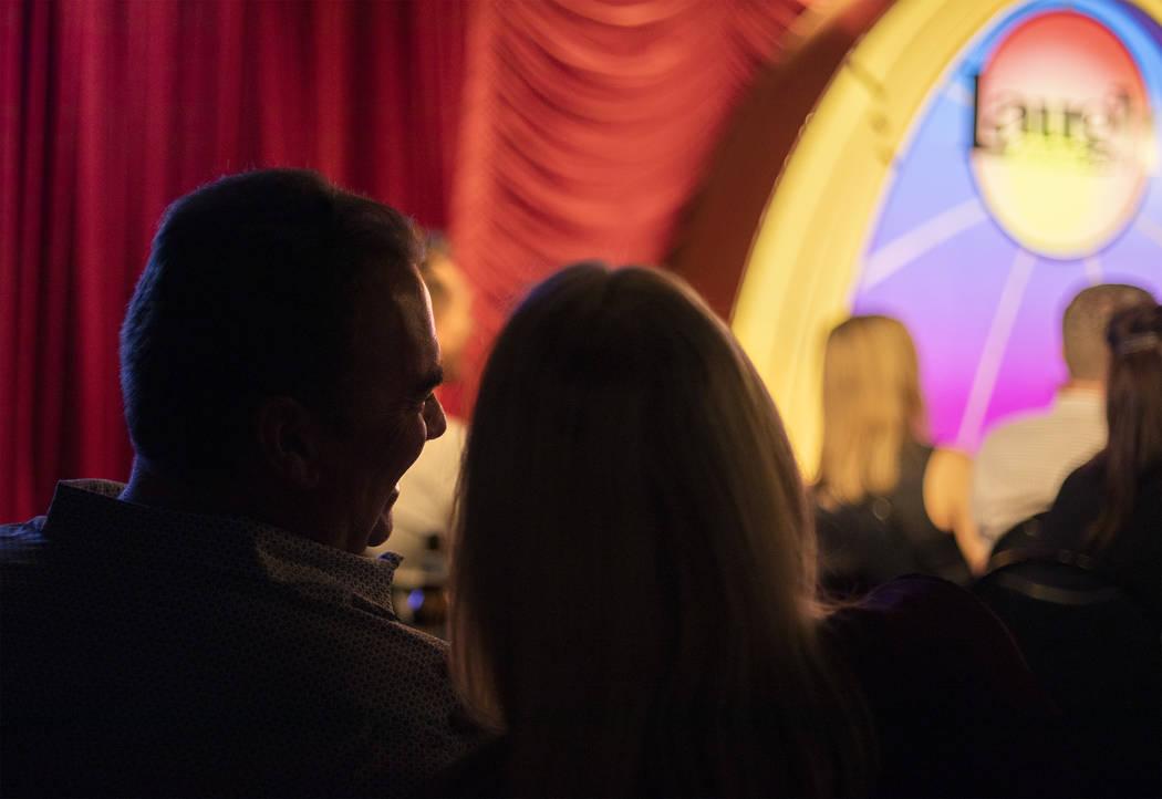 Audience members at The Laugh Factory Comedy Club enjoys Shayma Tash's set on Saturday, Feb. 20 ...