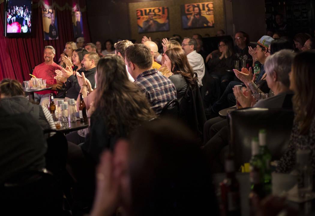 The Laugh Factory Comedy Club is full on Saturday, Feb. 2020 in Las Vegas. (Ellen Schmidt/Las V ...