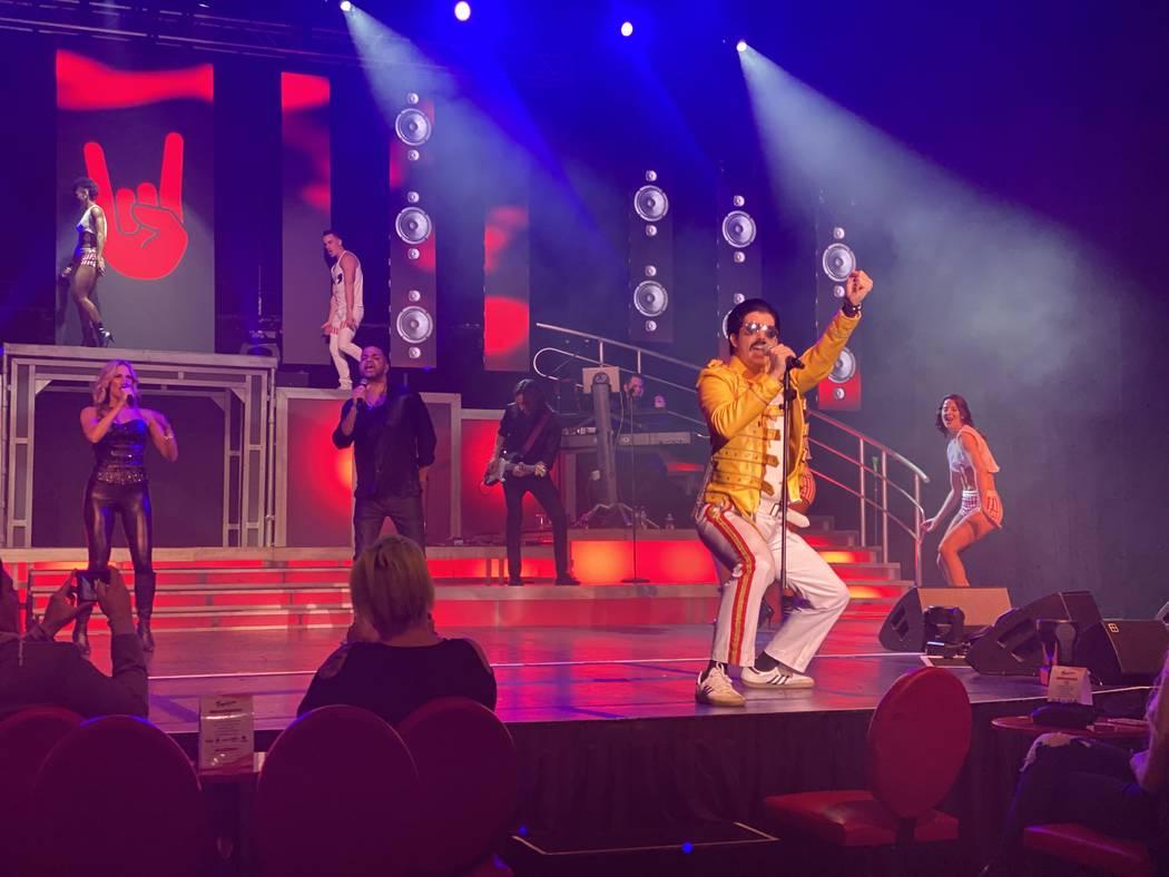 "Fernando Castro as Freddie Mercury is shown in ""Legends In Concert"" on Monday, Feb. 10, 2020. ( ..."