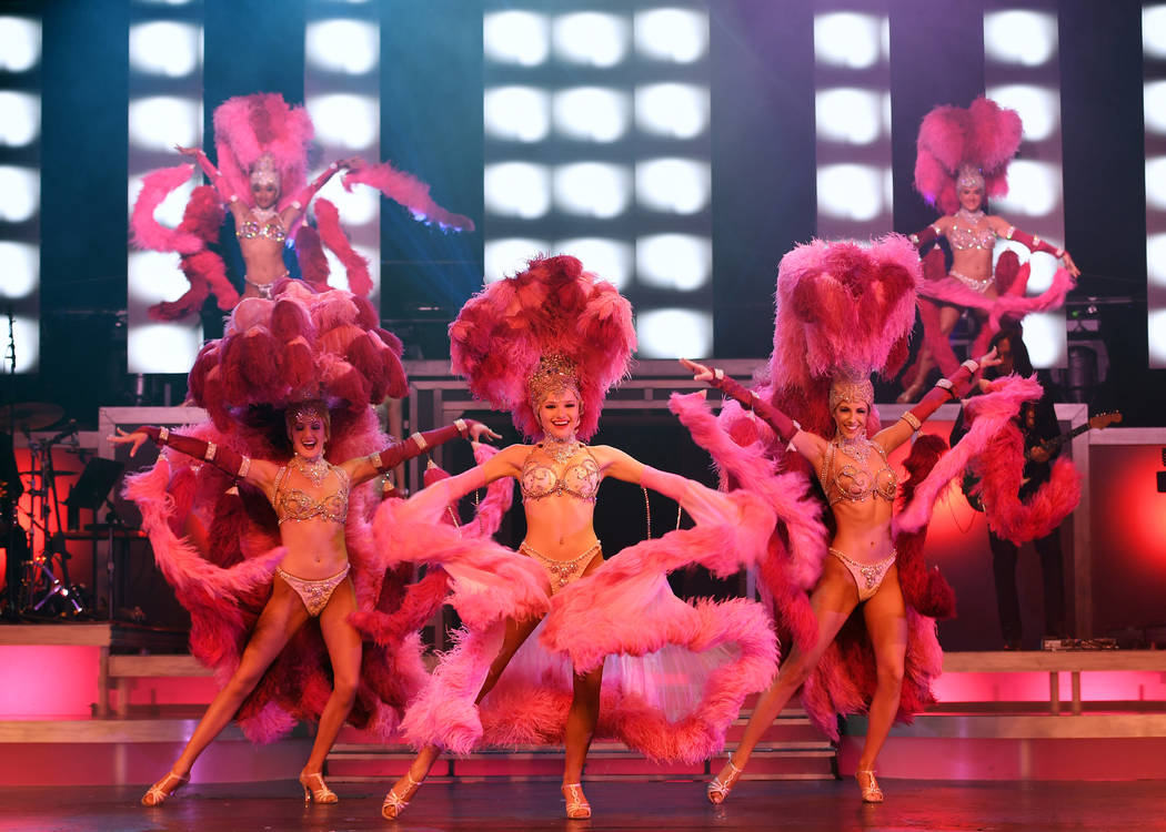 """A showgirl scene from """"Legends In Concert,"""" which has re-launched at Tropicana Theater. (Denise ..."""