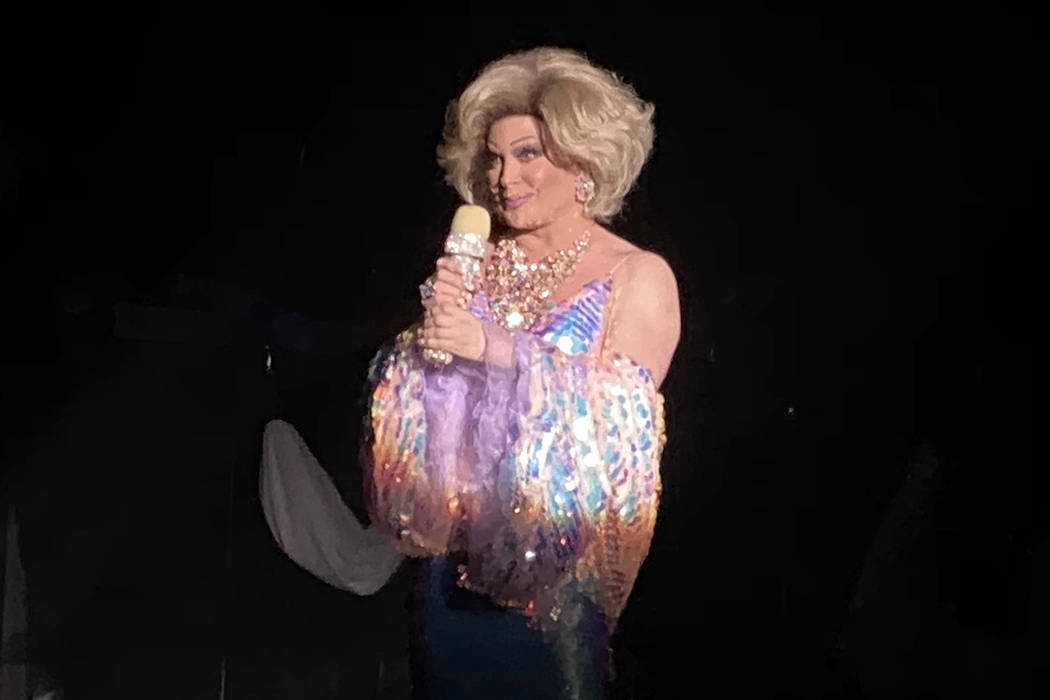 """Frank Marino is shown hosting """"Legends In Concert"""" in his Joan Rivers role on Monday, Feb. 10, ..."""