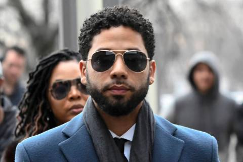 FILE - In this March 14, 2019, file photo, Empire actor Jussie Smollett arrives at the Leighton ...