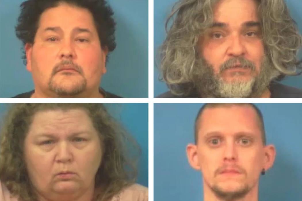 Eric Garcia, clockwise, top left, Danny Hicks, Mickey Cagle and Vicki Bachli (Nye County Sherif ...
