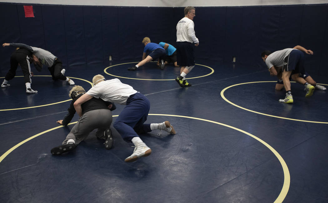 Shadow Ridge High School practices before the class 4A state championship the following day on ...