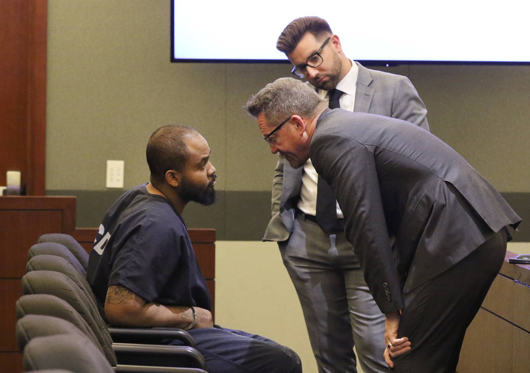 Johnny Brooks, the lone surviving victim of a shooting that left two dead, speaks to his attorn ...