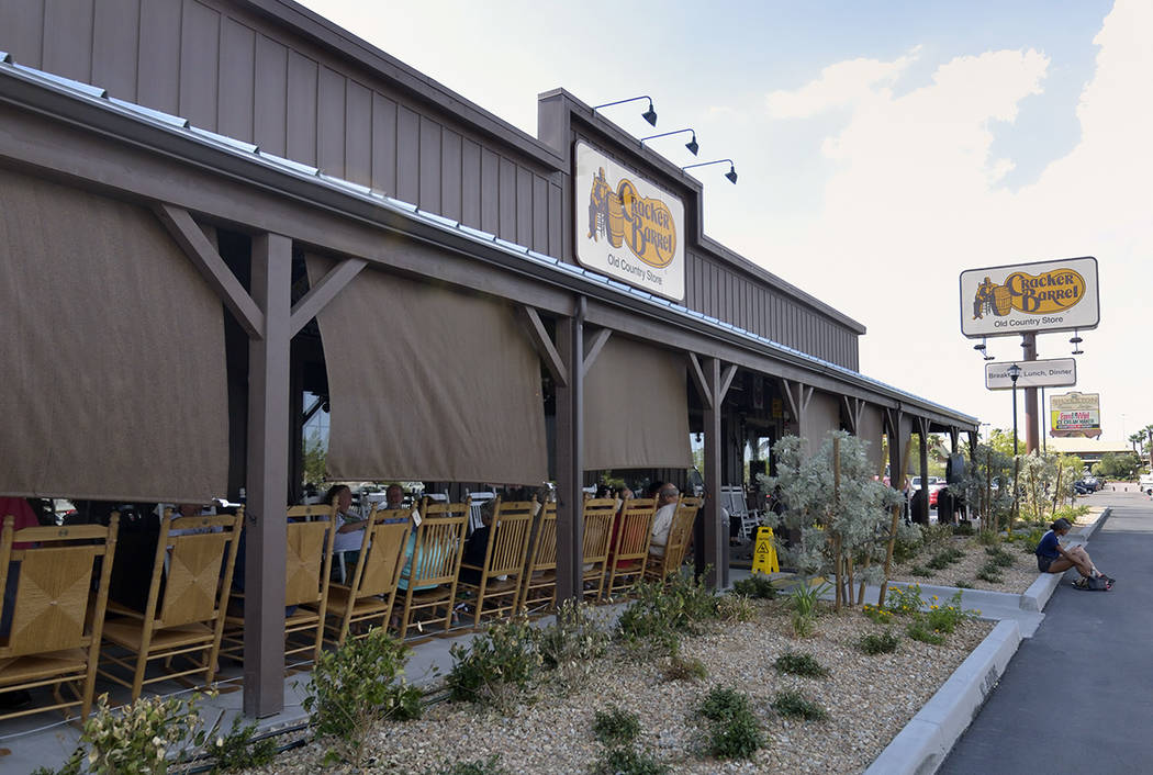 The exterior of Cracker Barrel is shown at 8350 Dean Martin Drive in Las Vegas on Friday, Aug. ...