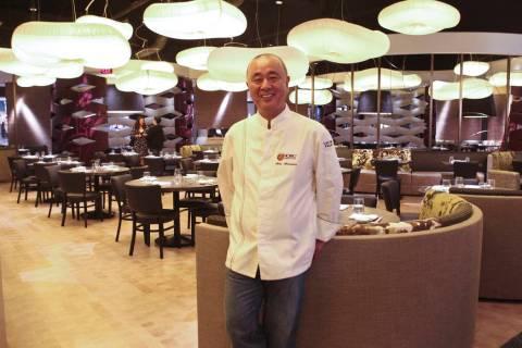 Chef Nobu Matsuhisa in his restaurant at Caesars Palace. (Las Vegas Review-Journal/File)