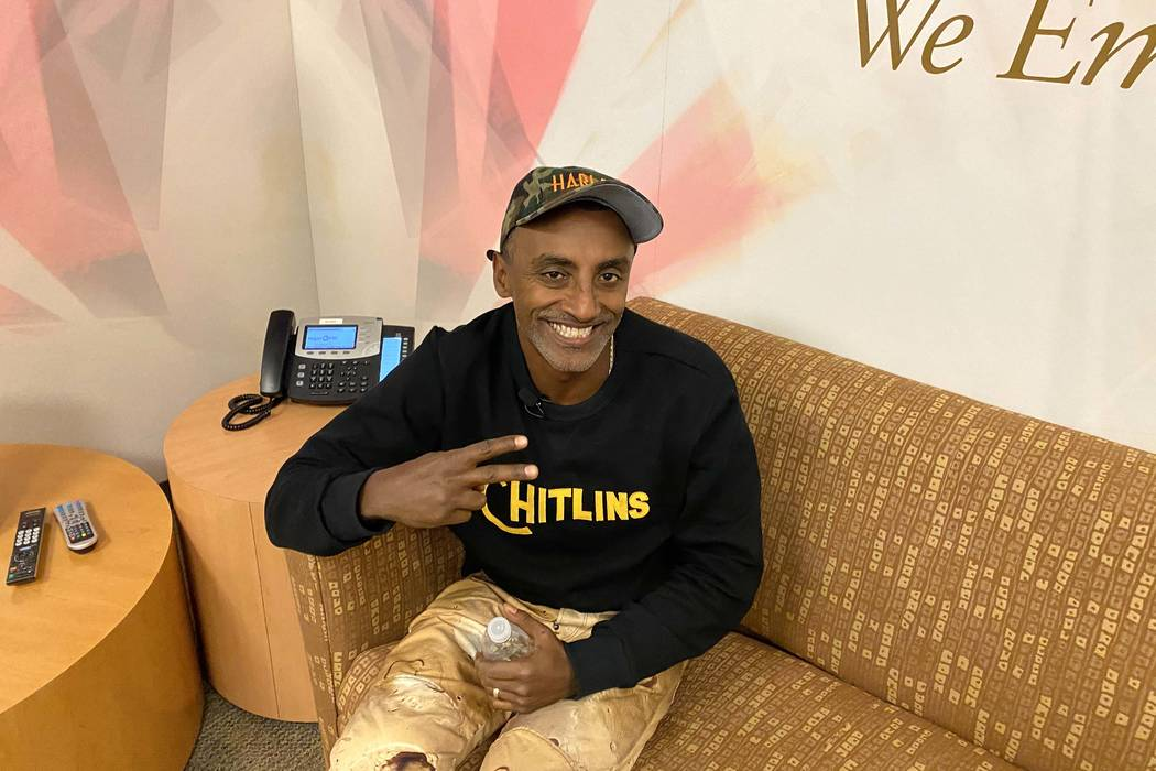 Marcus Samuelsson at Las Vegas PBS Studios (Al Mancini/Las Vegas Review-Journal)