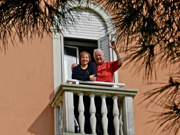 Paulette and Joseph Schaeffer in Venice, Italy. 2012. (Provided by Joseph Schaeffer)
