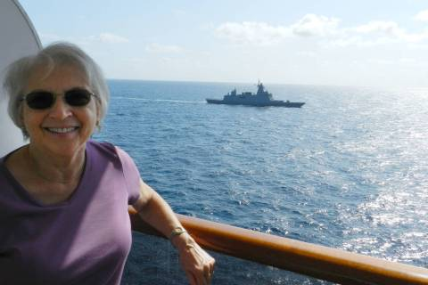 Henderson resident Paulette Schaeffer is seen on the MS Westerdam during a cruise. The vessel w ...