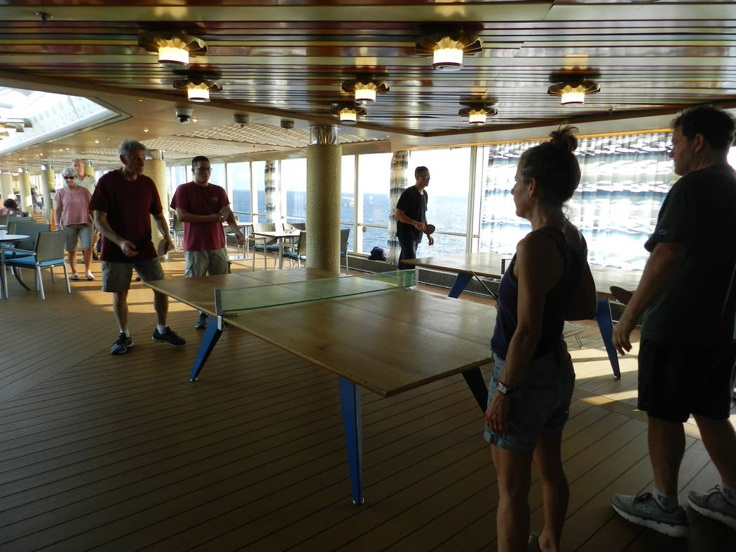 Passengers are seen on the MS Westerdam during a cruise. The vessel was turned away from at lea ...