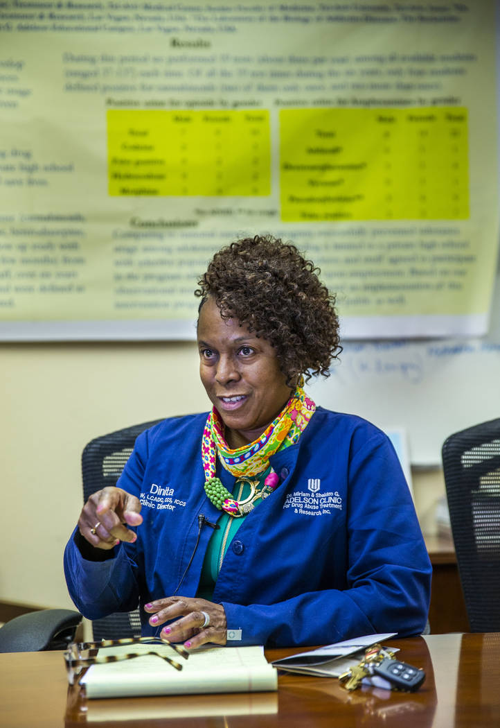 Clinic Director Dinita Smith speaks about their mission as the Adelson Clinic for Drug Abuse Tr ...