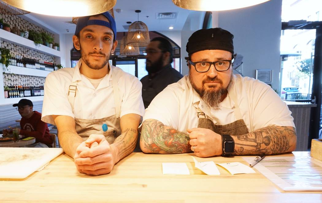 Chefs Dylan Jobsz (left) and Bruce Kalman (Timeless Cuisine)