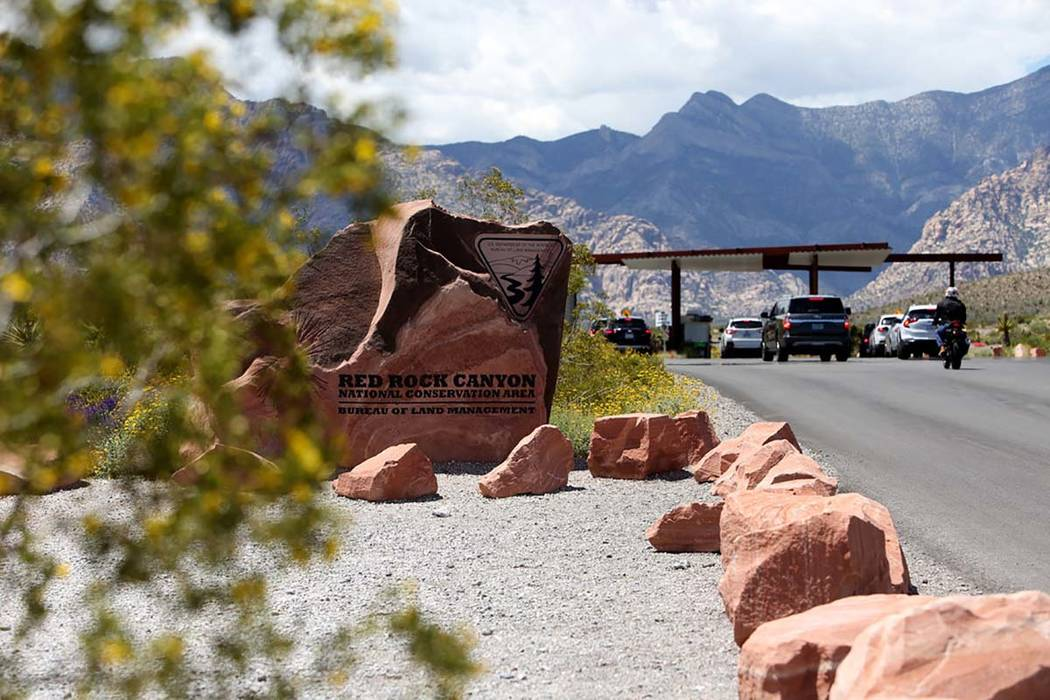 The entrance of Red Rock Canyon National Conservation Area in Las Vegas, Sunday, May 12, 2019. ...