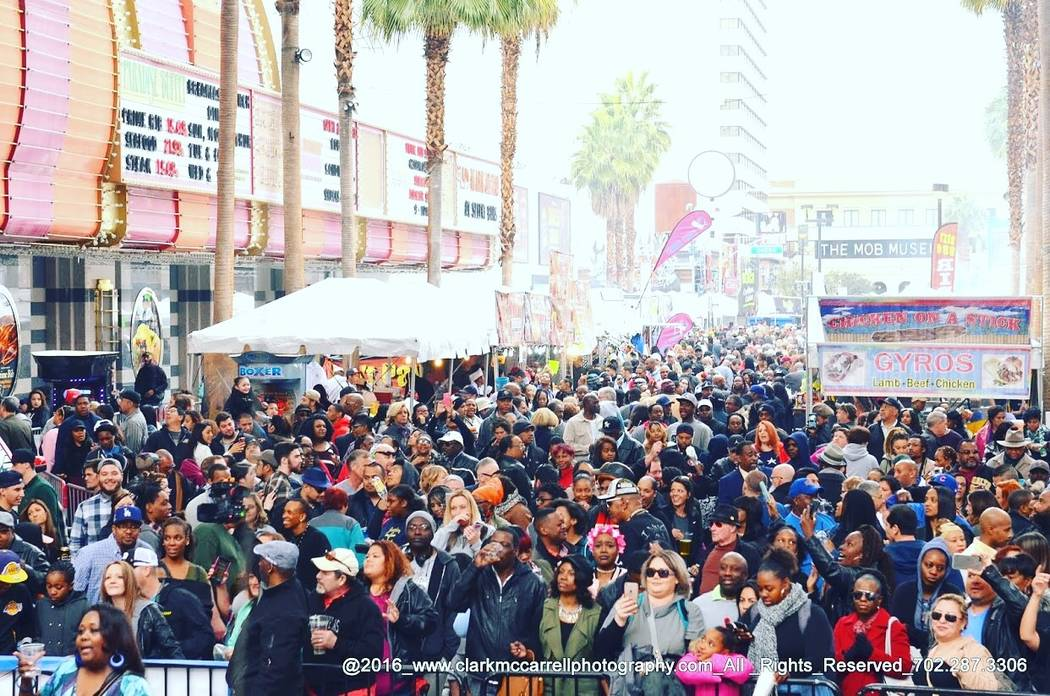 Crowds gather at a previous Taste & Sounds of Soul festival on the Fremont Street Experience. ( ...