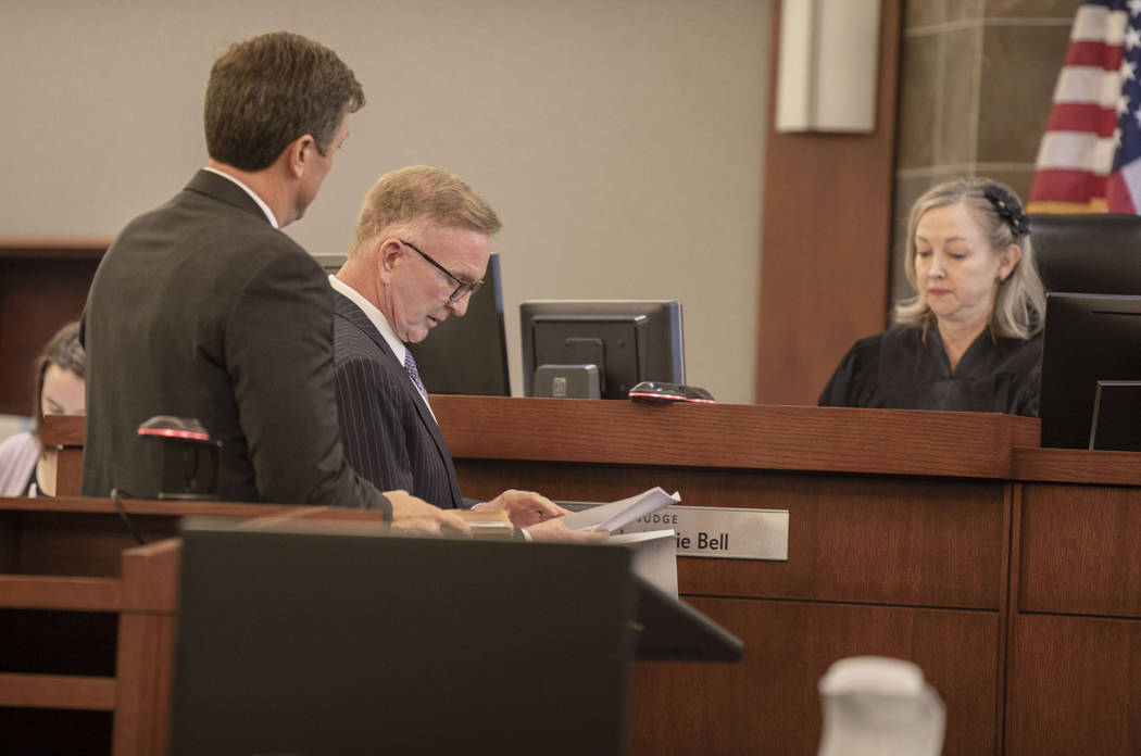 Attorney Daniel Robinson, left, and attorney Robert Eglet, who has represented several Oct. 1 v ...
