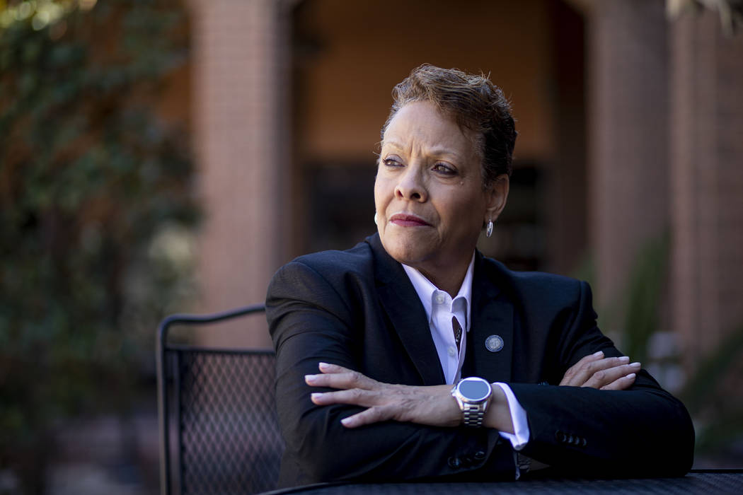 "Nevada state Sen. Pat Spearman, D-North Las Vegas, says ""As a woman I've experienced discrimi ..."