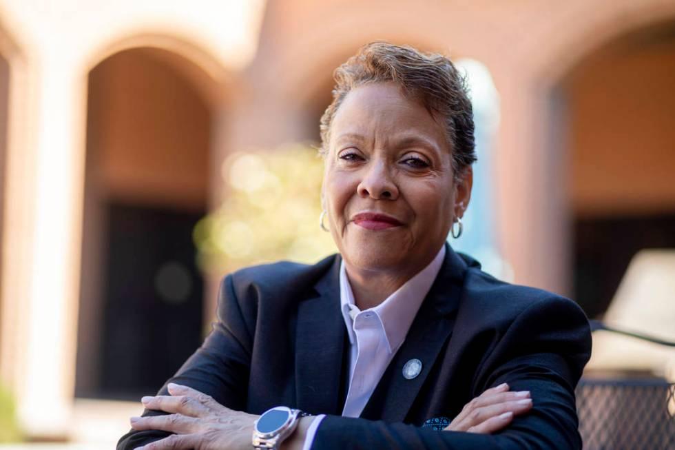 Nevada state Sen. Pat Spearman, D-North Las Vegas, poses for a portrait at the Las Vegas Review ...