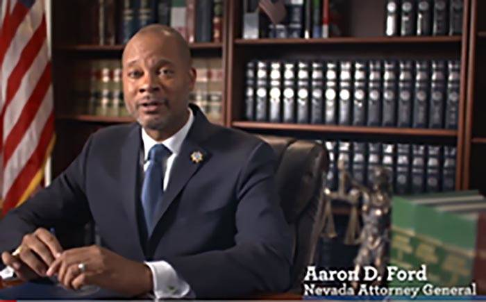 "Nevada Attorney General Aaron Ford says state Sen. Pat Spearman, D-North Las Vegas, ""is unafrai ..."