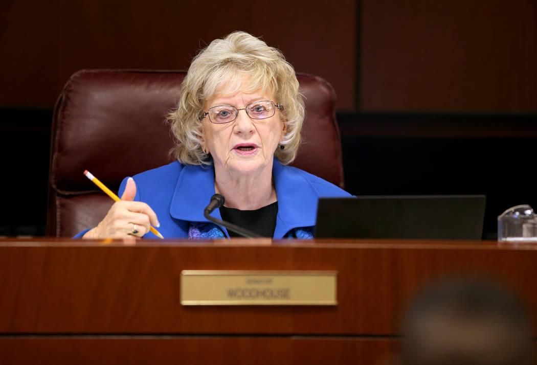 Nevada state Sen. Joyce Woodhouse, D-Henderson, in the Legislative Building in Carson City on F ...