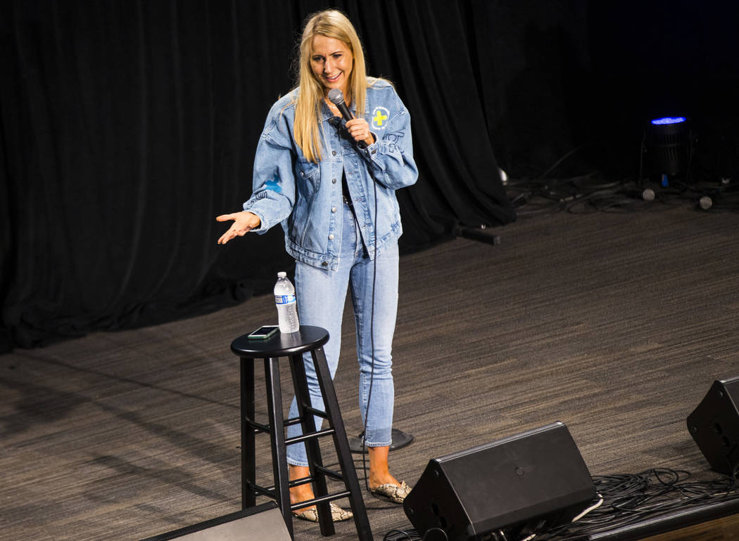 Comedian Nikki Glaser performs during day 3 of the Life is Beautiful festival in downtown Las V ...