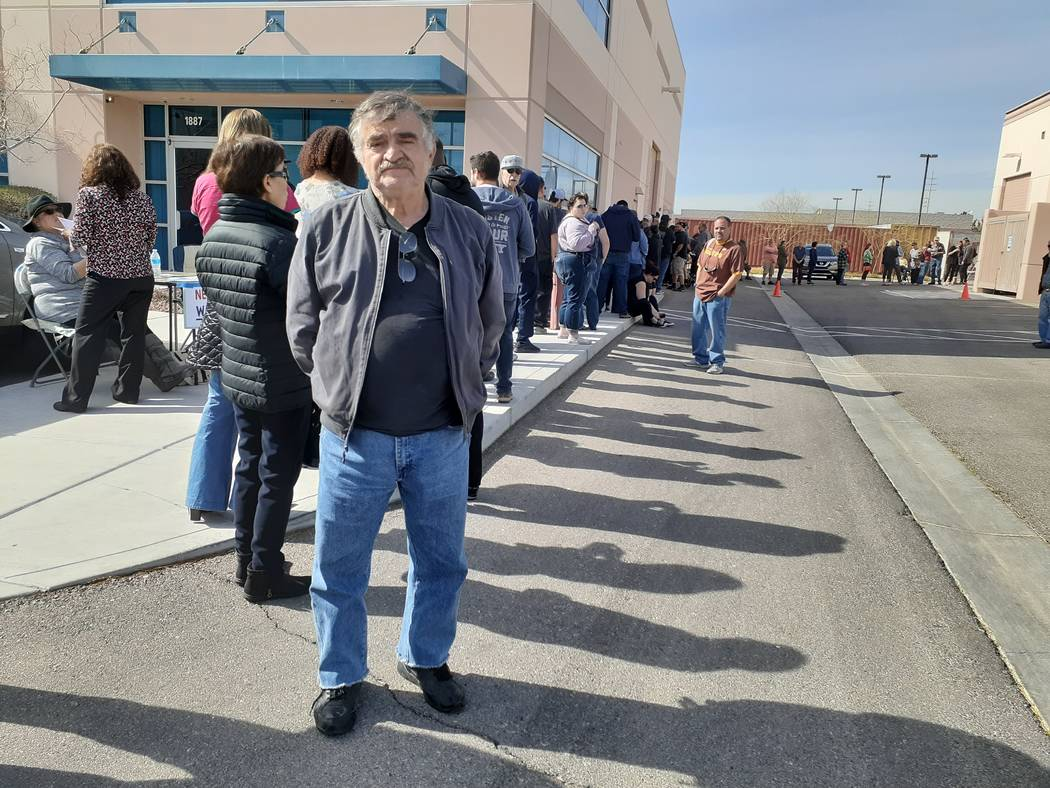 U.S. immigrant Priamos Emmanuil came to the U.S. in 1972. He waited in line at least 90 minutes ...