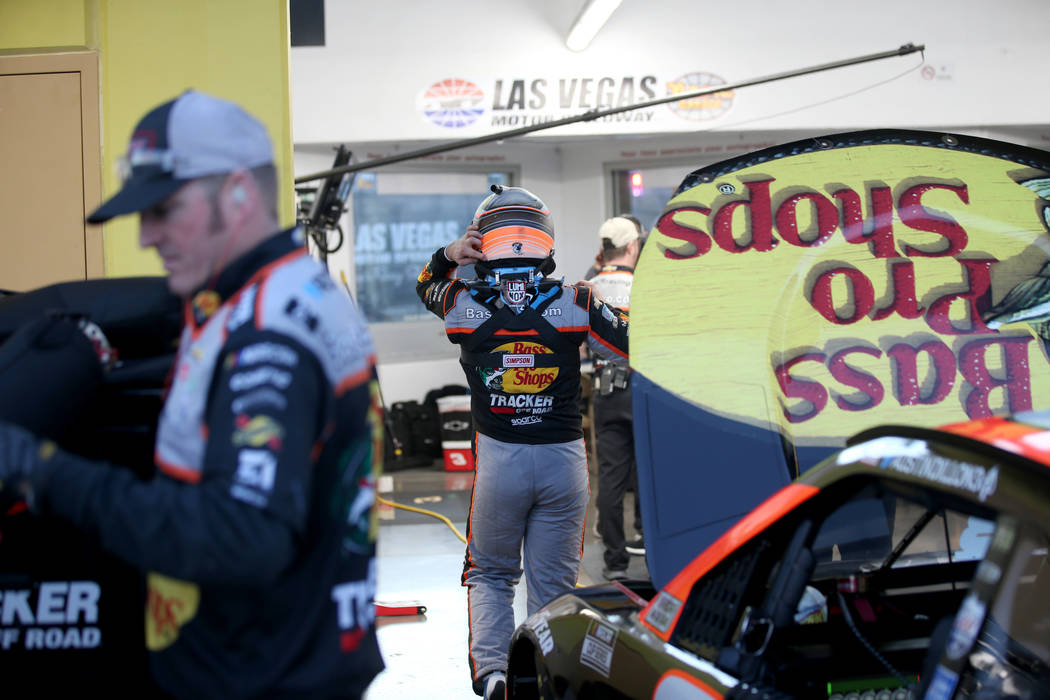 NASCAR Cup Series driver Austin Dillon (3) removes his safety gear after practice for SundayÕs ...
