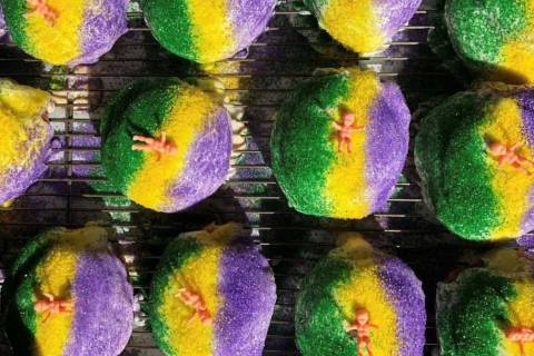 King Cake Donuts at District Donuts. Sliders. Brew. (District Donuts. Sliders. Brew.)