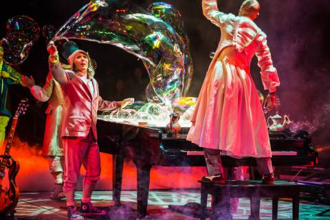 "Cirque du Soleil's ""The Beatles Love"" at The Mirage on the Las Vegas Strip. (Cirque du Soleil)"
