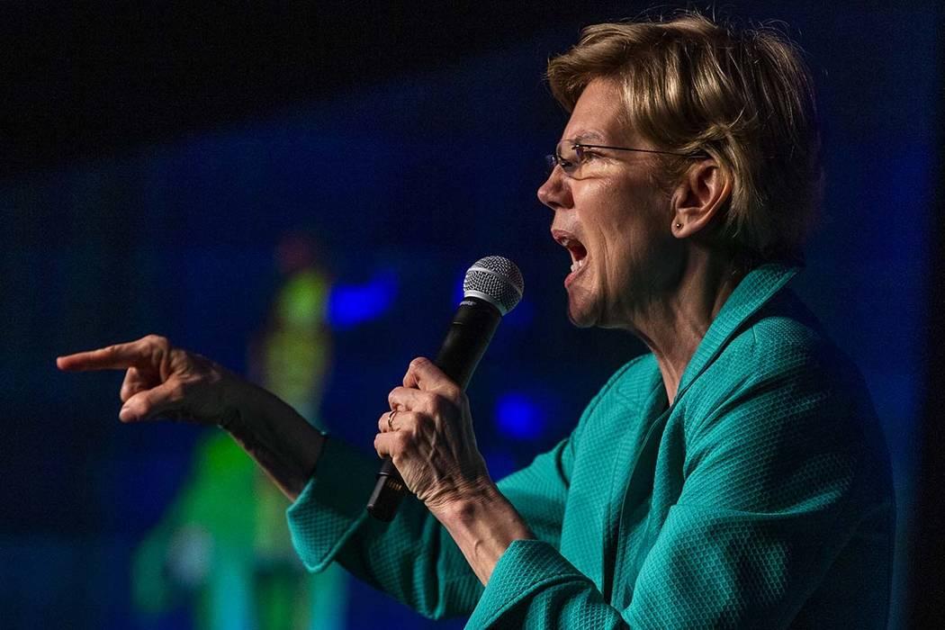 Warren rallies in Henderson during early voting in...
