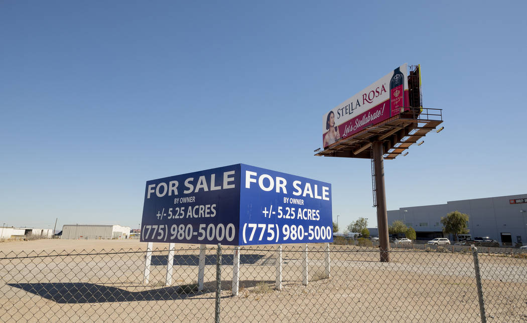 A vacant parcel of land that has plans to be developed into a hotel-casino, is seen north of th ...