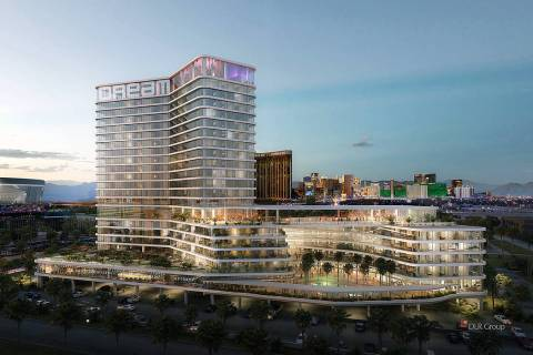 A rendering of a proposed luxury hotel on the south edge of the Las Vegas Strip. (Courtesy of C ...