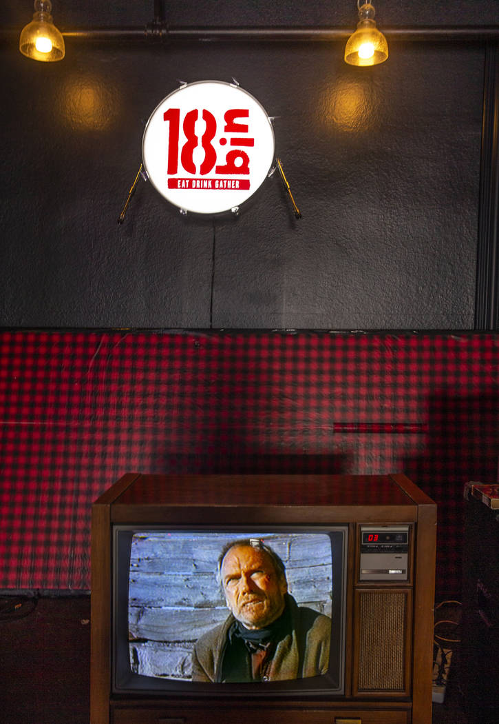 An old TV in the living room area of the 18bin restaurant and bar on Monday, Jan. 20, 2020, in ...