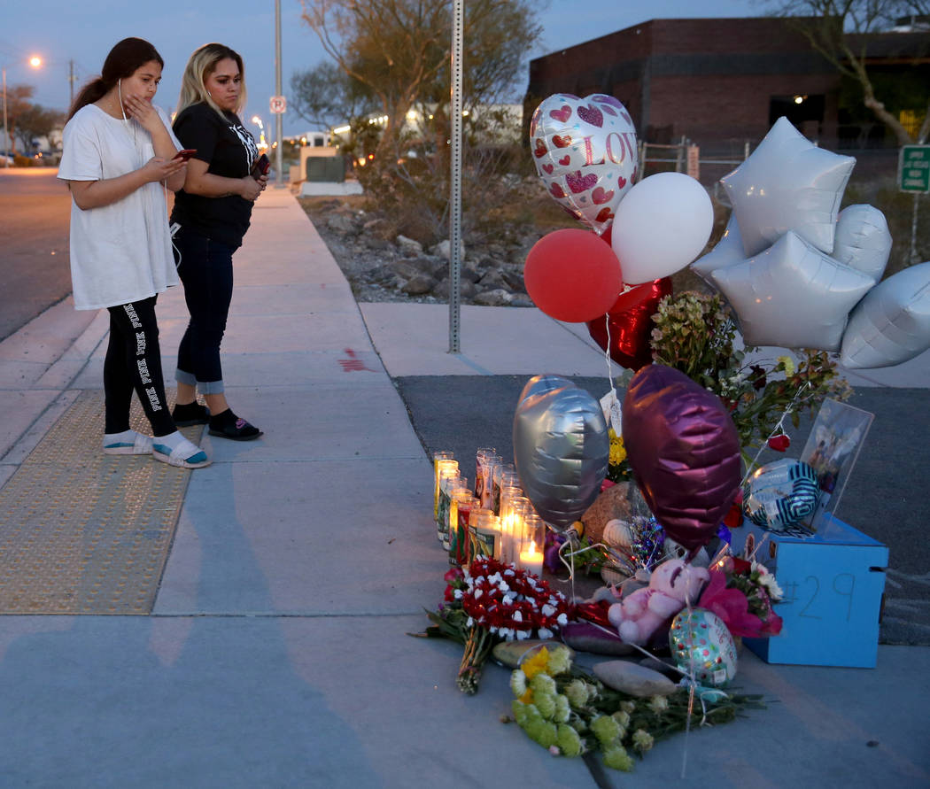 Melany Romero, 11, a fellow student of a 12-year-old boy who died Friday after getting struck b ...