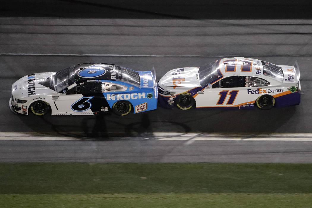 Denny Hamlin Wins 2020 Daytona 500 Ryan Newman Hospitalized Las Vegas Review Journal