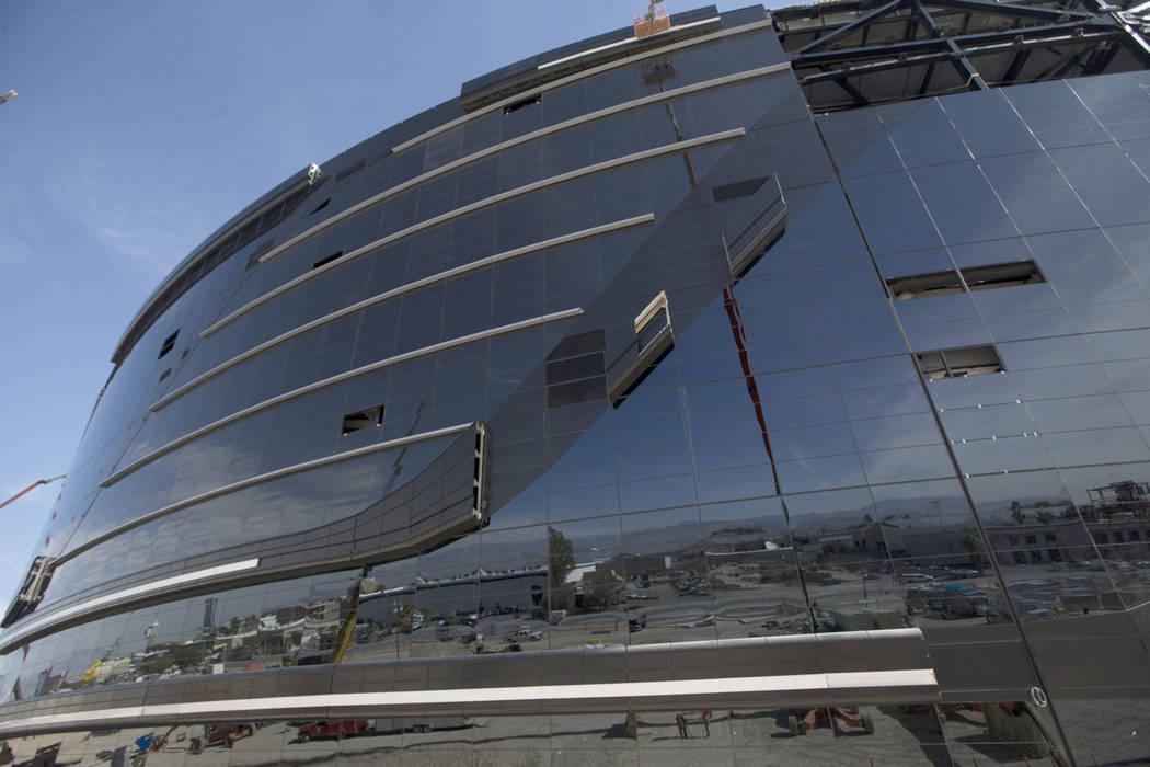 The Raiders Allegiant Stadium in Las Vegas, Tuesday, Feb. 18, 2020. (Erik Verduzco/Las Vegas Re ...