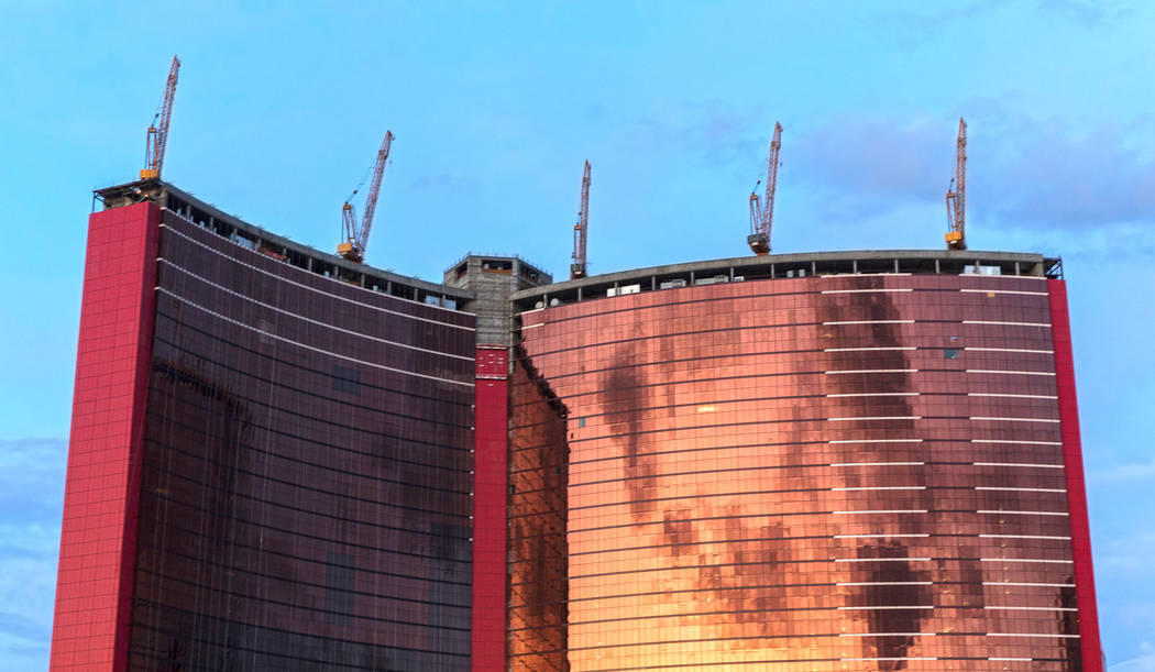 Construction continues on Resorts World Las Vegas on Wednesday, Nov. 20, 2019, in Las Vegas. (B ...