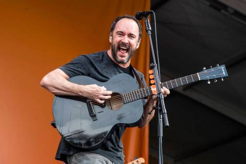 Dave Matthews of the Dave Matthews Band performs at the New Orleans Jazz and Heritage Festival ...