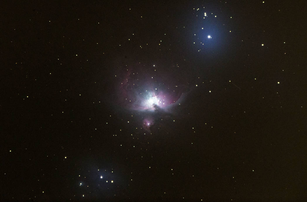 The Orion Nebula as pictured through a telescope during a stargazing activity led by Greg McKay ...