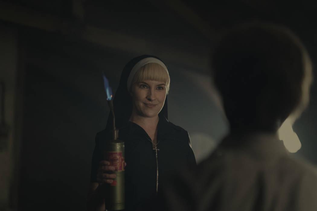 "Kate Mulvany as Sister Harriet in ""Hunters."" (Christopher Saunders/Amazon Studios)"