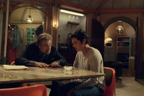 "Al Pacino and Logan Lerman star in ""Hunters."" (Christopher Saunders/Amazon Studios)"