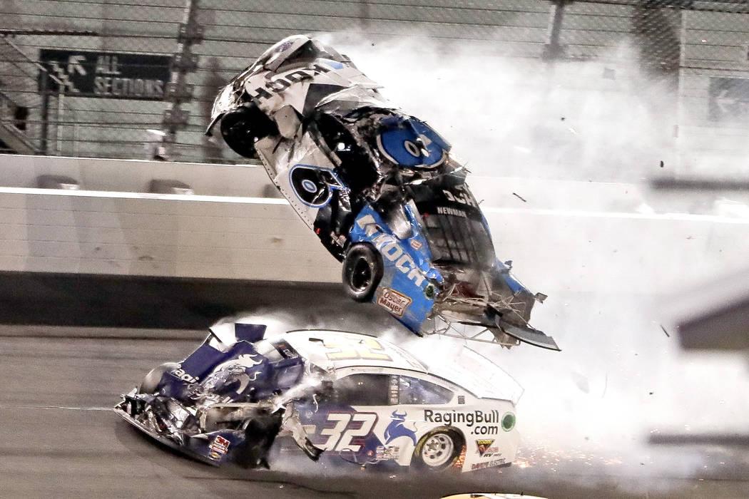 NASCAR Daytona 500 auto race at Daytona International Speedway, Monday, Feb. 17, 2020, in Dayto ...