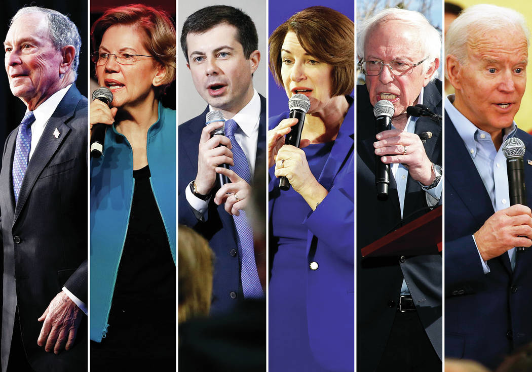 Las Vegas Review-Journal and Associated Press file The participants in Wednesday's Democra ...