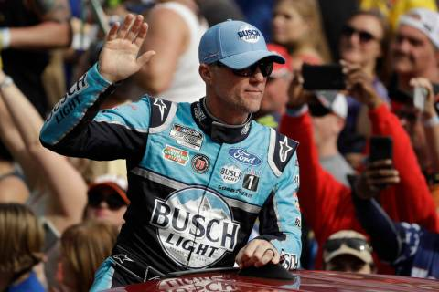 Kevin Harvick before the NASCAR Daytona 500 auto race Sunday, Feb. 16, 2020, at Daytona Interna ...