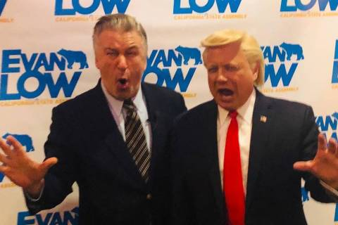 John Di Domenico and Alec Baldwwin are shown at a fundraiser for California State Assemblyman E ...