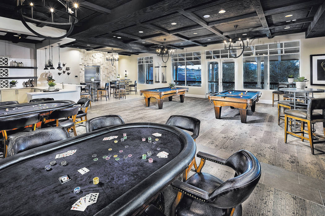Lennar This billiard and poker room is on the second floor of 22,713-square-foot Club House at ...