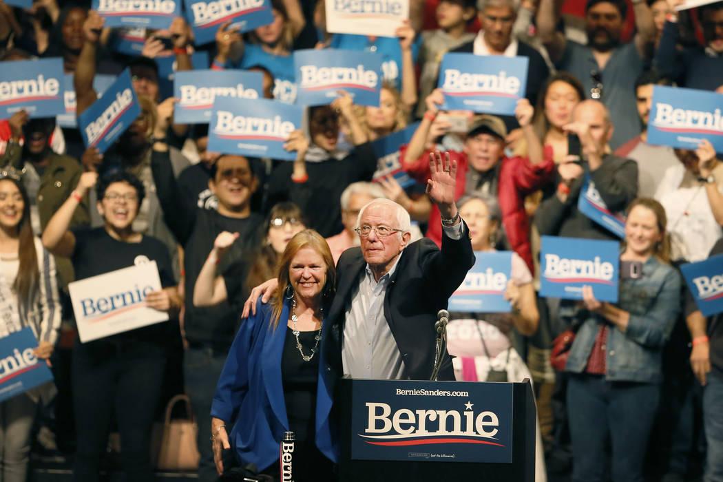 Democratic presidential candidate Bernie Sanders visits El Paso for rally Saturday, Feb. 22, at ...